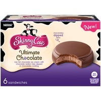 Skinny Cow Chocolate Ice Cream and Chocolate Cookie Ice Cream Sandwiches