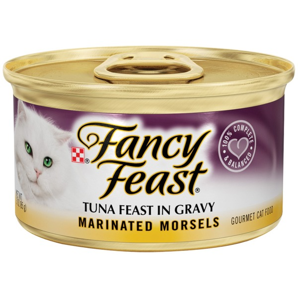 Fancy Feast Wet Marinated Morsels Tuna Feast in Gravy Cat Food