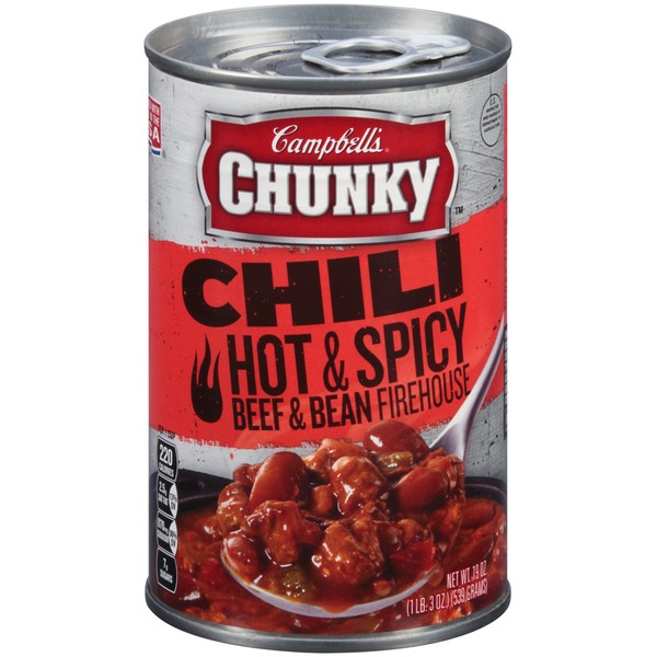 Campbell's Hot & Spicy Beef & Bean Firehouse Chili