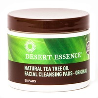 Desert Essence Natural Tea Tree Oil Facial Cleansing Pads Original