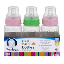 Gerber First Essential Baby Bottles - 5oz, 3ct