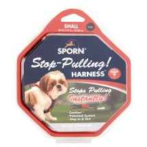 Sporn Stop-Pulling! Necks 9-12 in. Small Black Harness