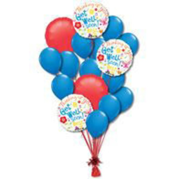 Get Well Large Balloon Bouquet