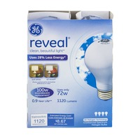 GE Reveal 100W Incandescent Bulb - 2 CT
