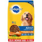 Pedigree Adult Complete Nutrition Roasted Chicken Rice & Vegetable Flavor Dry Dog Food, 20.4 Lb