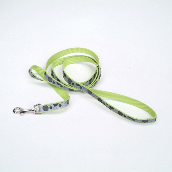 Coastal Pet Lazer Brite Reflective Dog Leash In Lime With Dot Print