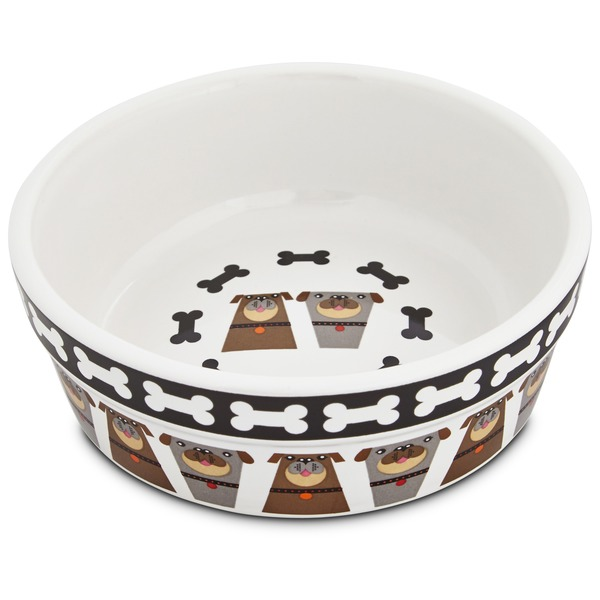 Harmony Tough Guys Ceramic Dog Bowl 1.75