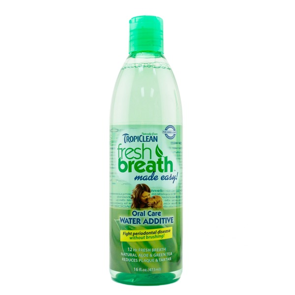 TropiClean Fresh Breath Oral Care Water Additive for Dogs & Cats
