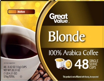 Great Value Blonde K-Cups