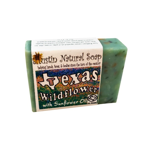 Austin Natural Soap Texas Wildflower Soap With Sunflower Oil