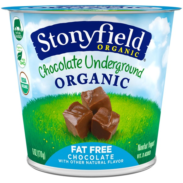 Stonyfield Organic Organic Underground Chocolate Fat Free Chocolate Yogurt