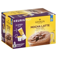 Gevalia Kaffe Coffee Single Serve Cups Mocha Latte - 6