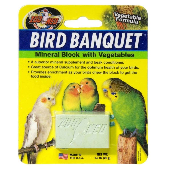 Zoo Med Bird Banquet Mineral Block With Vegetables