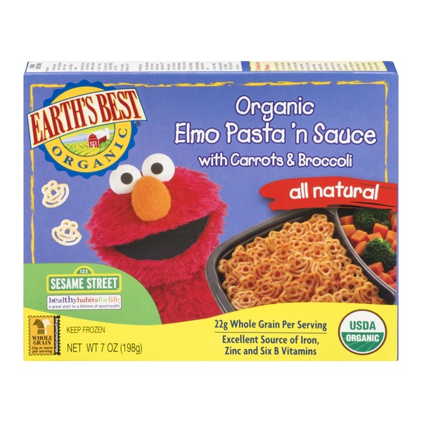 Earth's Best Organic Elmo Pasta 'n Sauce with Carrots & Broccoli