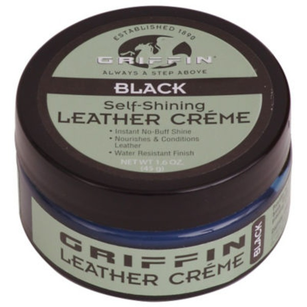 Griffin Self Shining Leather Creme Black