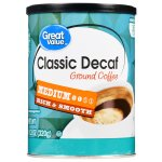 Great Value Classic Decaf Ground Coffee, Medium Roast, 11.3 oz