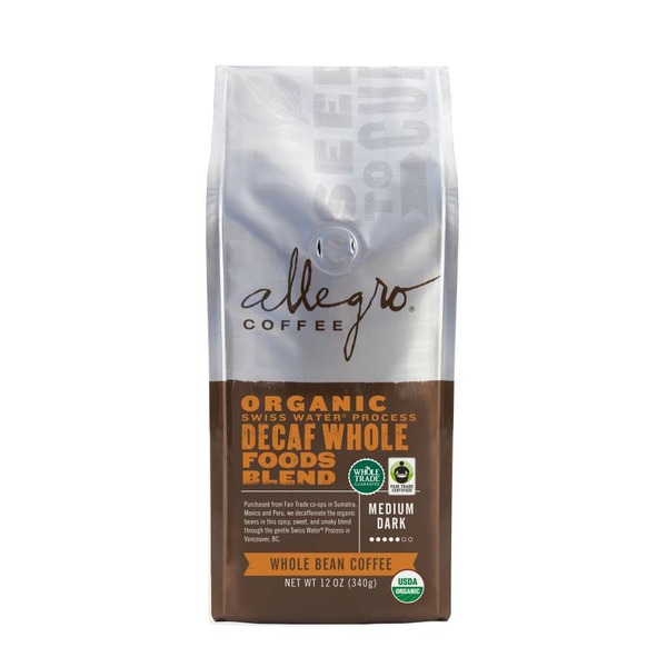 Allegro Organic Decaf Whole Foods Blend Ground Coffee