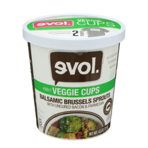 Evol Foods Balsalmic Brussels Sprouts Veggie Cups