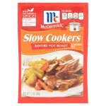 McCormick Slow Cookers Savory Pot Roast Seasoning Mix, 1.3 oz