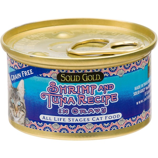 Solid Gold Grain Free Shrimp & Tuna In Gravy Canned Cat Food 3 Oz.