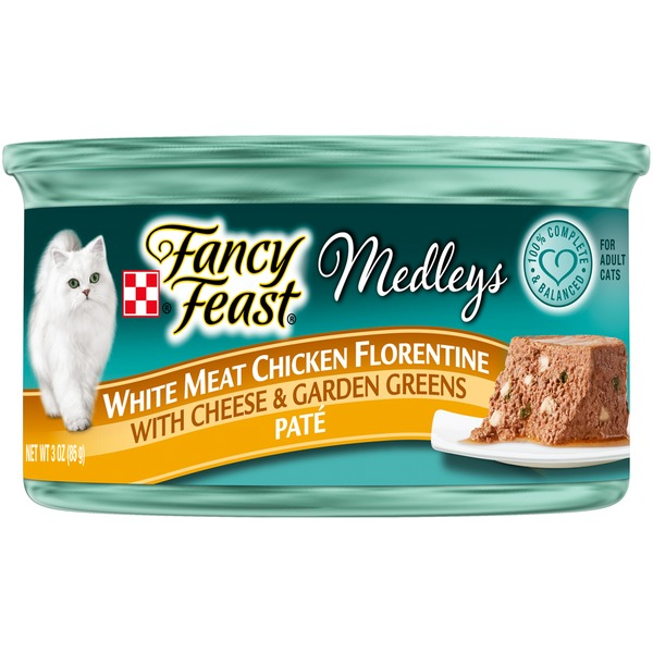 Fancy Feast Medleys White Meat Chicken Florentine Pate Cat Food