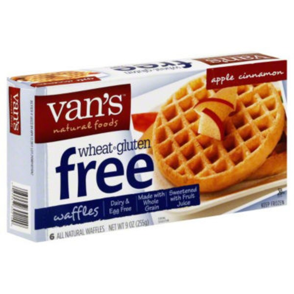 Van's Natural Foods Gluten Free Apple Cinnamon Waffles