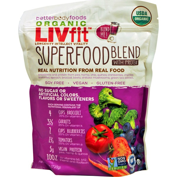 Better Body Foods Organic Liv Fit Superfood Blend With Protein