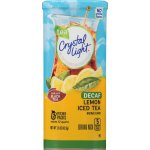 Crystal Light Drink Mix, Lemon Decaf Tea, 1.5 Oz, 6 Packets, 1 Count