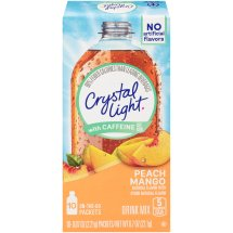 Crystal Light On-The-Go Drink Mix, Peach Mango, .07 Oz, 10 Packets, 1 Count
