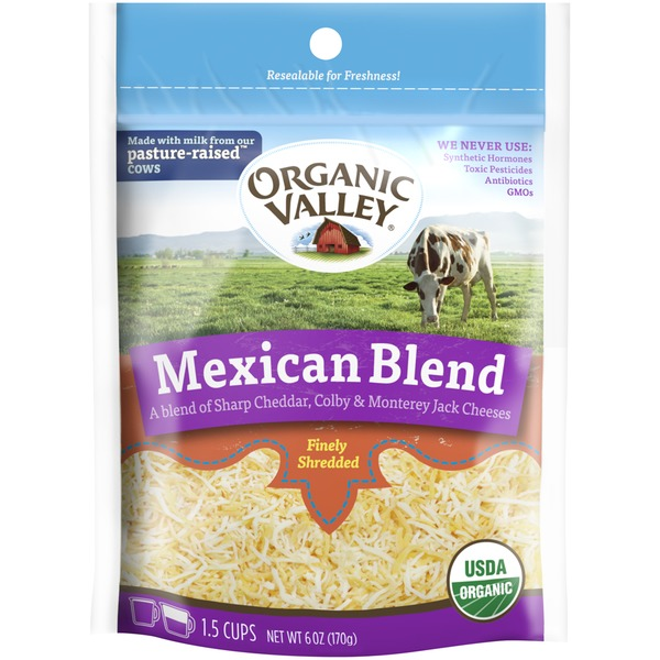 Organic Valley Mexican Blend Fancy Shredded Cheese
