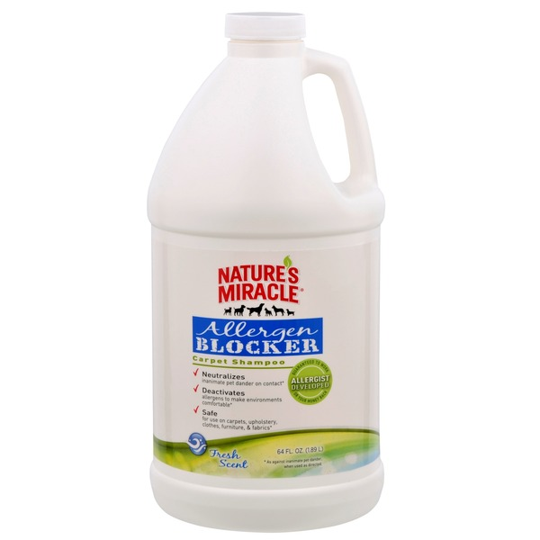 Nature's Miracle Allergen Blocker Carpet Shampoo 64 Fl. Oz.