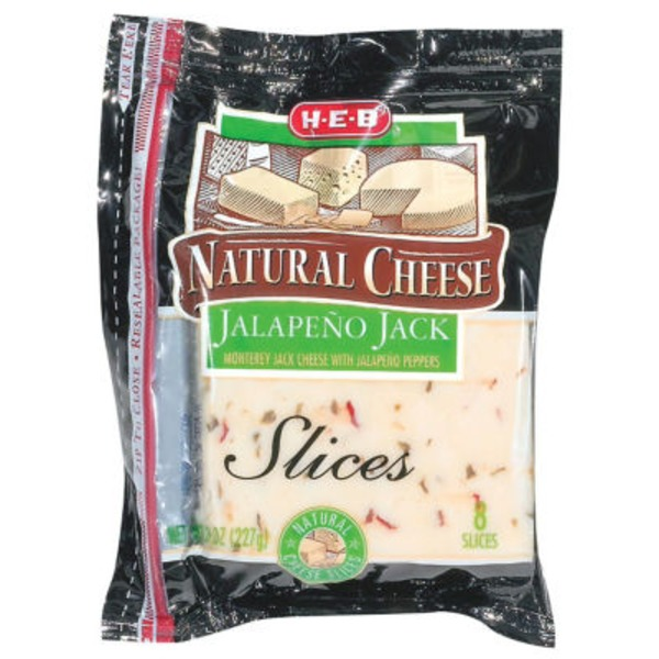 H-E-B Jalapeno Jack Cheese Slices