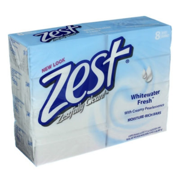 Zest Whitewater Fresh Moisture-Rich Bar Soap