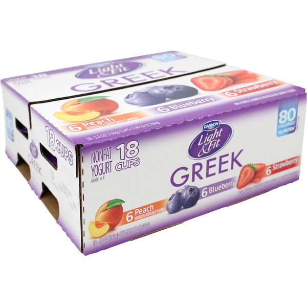 Light & Fit Greek Strawberry/Peach/Blueberry 5.3 Oz Light & Fit Greek Yogurt