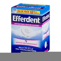 Efferdent Anti-Bacterial Denture Cleanser Tablets - 102 CT