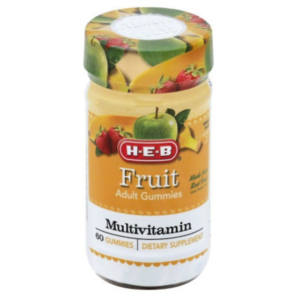 H-E-B Fruit Adult Multivitamin Gummies