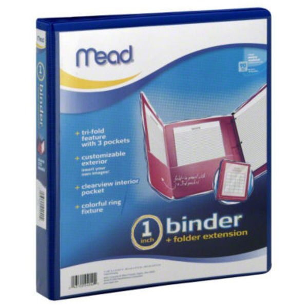 Mead 1 Inch Binder + Folder Extension