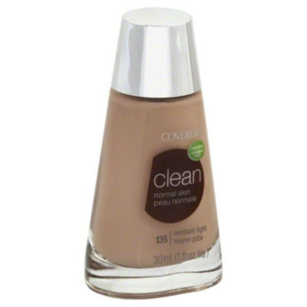 CoverGirl Clean COVERGIRL Clean Makeup Foundation, Medium Light 1 fl oz (30 ml) Female Cosmetics