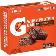 Gatorade Recover Bar, 20 Grams of Protein, Chocolate Chip, 16.9 Oz, 6 Ct