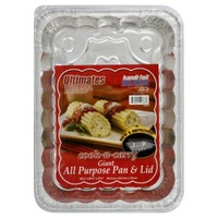 Handi-Foil Pan, Foil, All Purpose with Lid, Giant, Wrapper