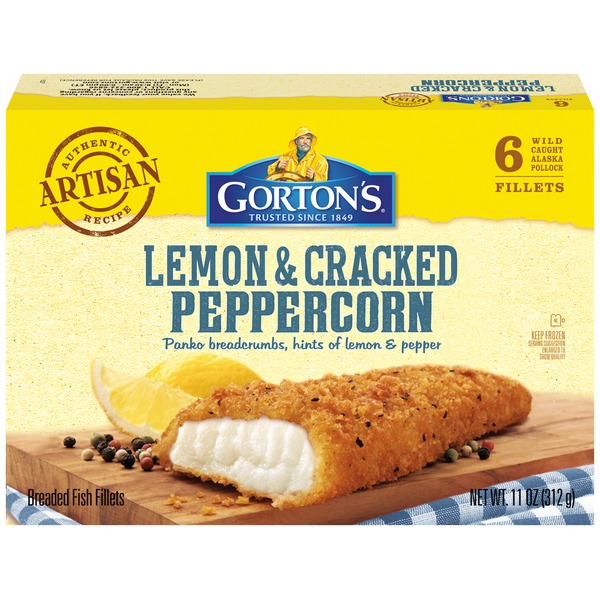 Gorton's Breaded Lemon & Cracked Peppercorn Fish Fillets