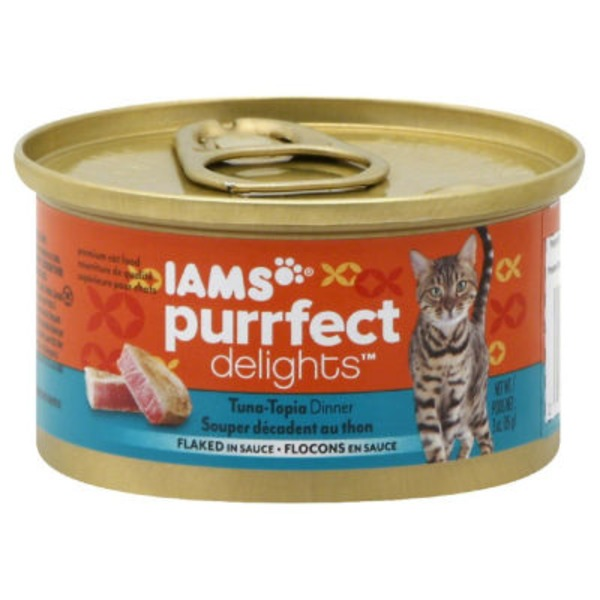 Iams Purrfect Delights Tuna–Topia Dinner Flaked in Sauce Cat Food
