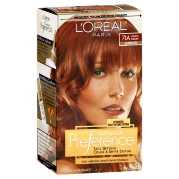 Superior Preference 7LA Warmer Lightest Auburn Hair Color