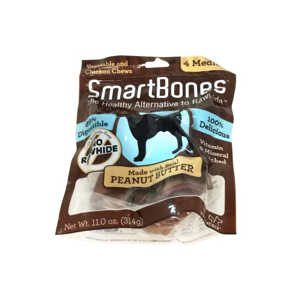 Smartbones Vegetable and Chicken Chews Made With Real Peanut Butter