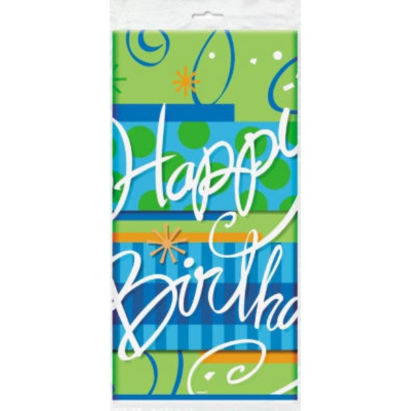 Unique Bright Birthday Table Cover
