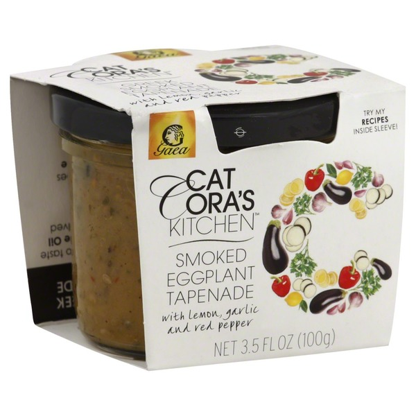 Cat Cora's Kitchen Smoked Eggplant Tapenade with Lemon, Garlic and Red Pepper