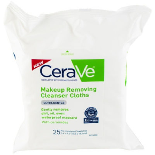 CeraVe Makeup Removing Cleanser Cloths Ultra Gentle - 25 CT