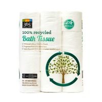 365 100% Recycled Bath Tissue Rolls