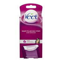 Veet Ready-To-Use Wax Strips Kit Face