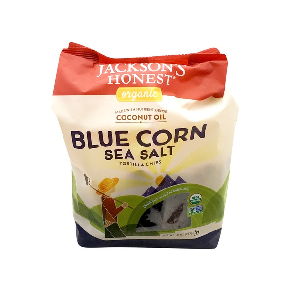 Jacksons Honest Organic Blue Corn Sea Salt Tortilla Chips